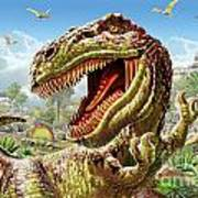 T-rex And Dinosaurs Art Print