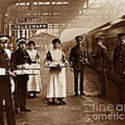 The Red Cross And St. John's Ambulance Brigade During Ww1 England Print by The Keasbury-Gordon Photograph Archive