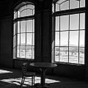 Table And Chair And The Windows Art Print