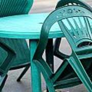 Table And Chairs. Art Print