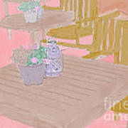 Tables And Chairs Art Print