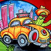 Taco Taxi Art Print