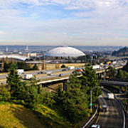 Tacoma Dome And Auto Museum Art Print