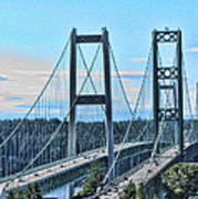 Tacoma Narrows Bridge 51 Art Print
