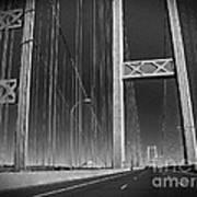 Tacoma Narrows Bridge B W Art Print
