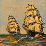 Taeping And Ariel, British Tea Clippers Art Print