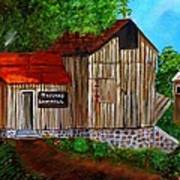 Tafoya's Old Sawmill In Colorado Art Print by Janis  Tafoya
