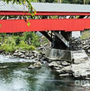 Taftsville Covered Bridge Vermont Art Print by Edward Fielding