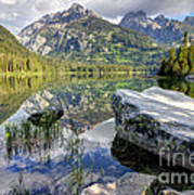 Taggart Lake  Grand Teton National Park Art Print