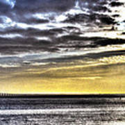 Big Clouds Over Tagus River Art Print