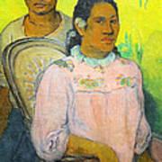 Tahitian Woman And Boy Art Print