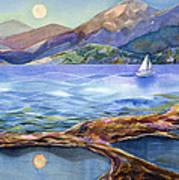 Tahoe Tides Print by Jen Norton