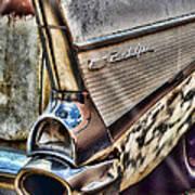 Taillight 1957 Chevy Bel Air Art Print