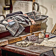 Tailors Work Bench Art Print