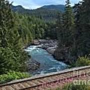Train Tracks By The Cheakamus River Art Print