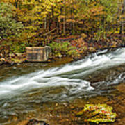 Take Me To The Other Side Beaver's Bend Broken Bow Lake Flowing River Fall Foliage Art Print