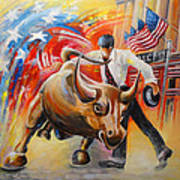 Taking On The Wall Street Bull Art Print
