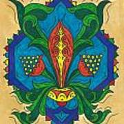 Talavera Flora Art Print