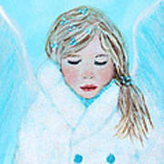 Talini Little Snow Angel Bringing Warmth On Cold Days Art Print