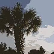 Tall Palm Art Print