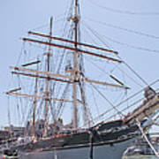 Tall Ship Elissa - Galveston Texas Art Print