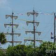 Tall Ship Mast Charleston  Art Print
