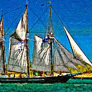 Tall Ship Paint  Art Print