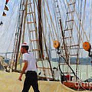 Tall Ship Sailor Duty Art Print