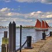Tall Ship The Roseway In Boston Harbor Art Print by Joann Vitali