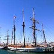 Tall Ships Big Bay Art Print