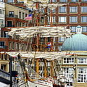 Tall Ships In Boston Art Print