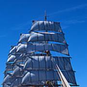 Tall Ships Race In The Ocean, Baie De Art Print