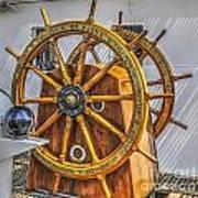 Tall Ships Wheel Art Print