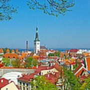 Tallinn From Plaza In Upper Old Town-estonia Art Print