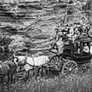 Tallyho Stagecoach Party C. 1889 Art Print by Daniel Hagerman