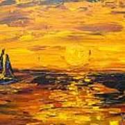 Tamarindo Sailboat Sunset Art Print