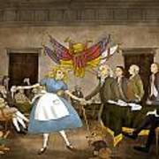 Tammy In Independence Hall Art Print by Reynold Jay