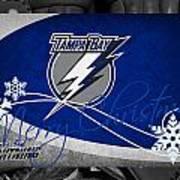 Tampa Bay Lightning Christmas Art Print
