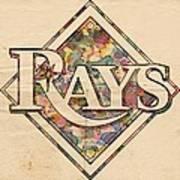 Tampa Bay Rays Vintage Art Art Print