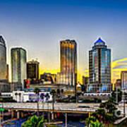 Tampa Skyline Art Print