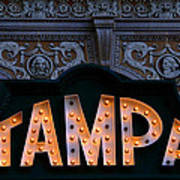 Tampa Theatre Sign 1926 Art Print
