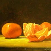 Tangerines Art Print by Ann Simons