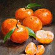 Tangerines Art Print