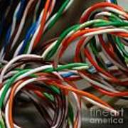 Tangle Of Colorful Wires Art Print