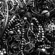 Tangled Baubles - Bw Art Print