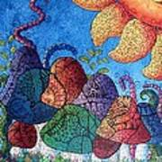 Tangled Mushrooms Art Print