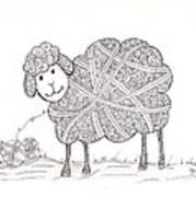 Tangled Sheep Art Print