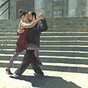 Tango On The Square Art Print