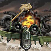 Tank Plinking With The A-10 Art Print