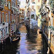 Tanta Luce A Venezia Art Print